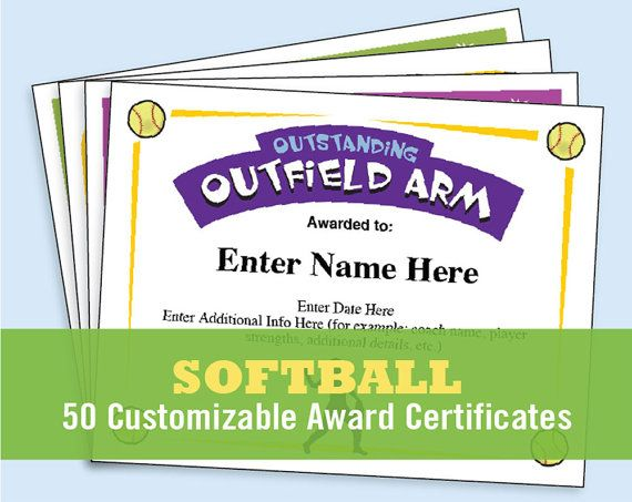 10 best Softball Certificates images on Pinterest Softball coach - name a star certificate template