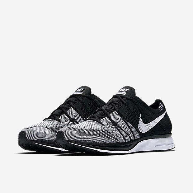 Nike Flyknit Trainer Racer Black White Oreo 2018 AH8396-005 Size 15
