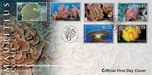 2007 Mauritius Stamps First Day Covers - Corals