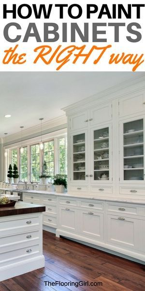 how to paint cabinets the right way - DIY cabinet painting. The best paints, tools and methods for painting kitchen cabinets. #paint #cabinet #kitchen #diy #do-it-yourself.