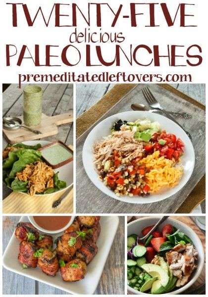 25 Paleo Lunch Recipes - Enjoy these tasty paleo lunch recipe ideas.  Using vegetables, beans and lean meats in new ways will stretch your lunch options while following a paleo diet.
