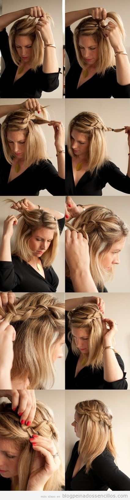 Tutorial peinado sencillo para diario: semirrecogido con trenzas