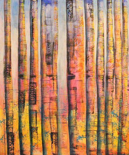 Evening Glory.  Acrylic. 90cm x 90cm. Shirley Dougan