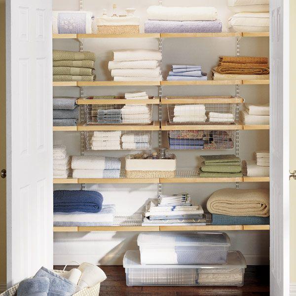 Freshen Up Your Linen Closet With The Beauty Of Elfa Décor.