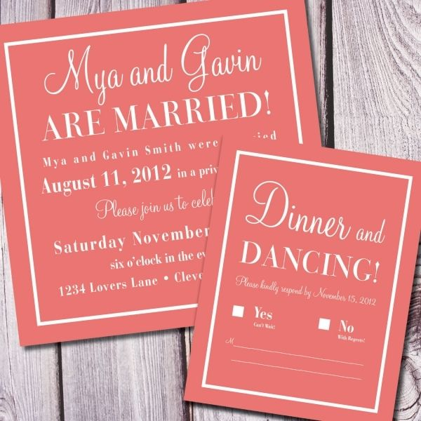 25 Best Ideas About Reception Only Invitations On Pinterest