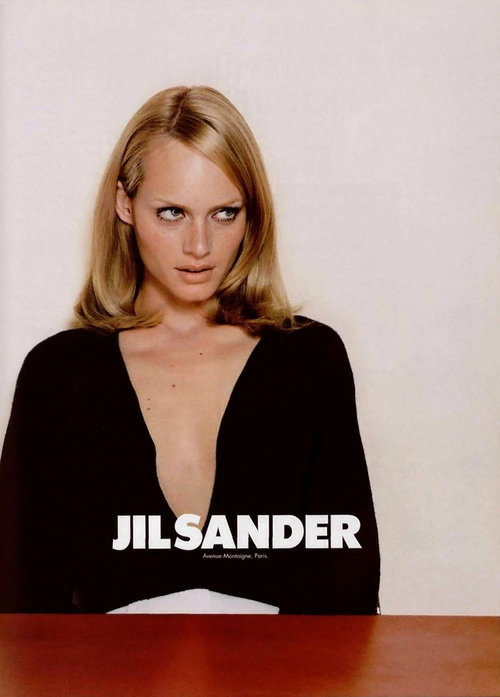 Amber Valletta 1995 for Jil Sander