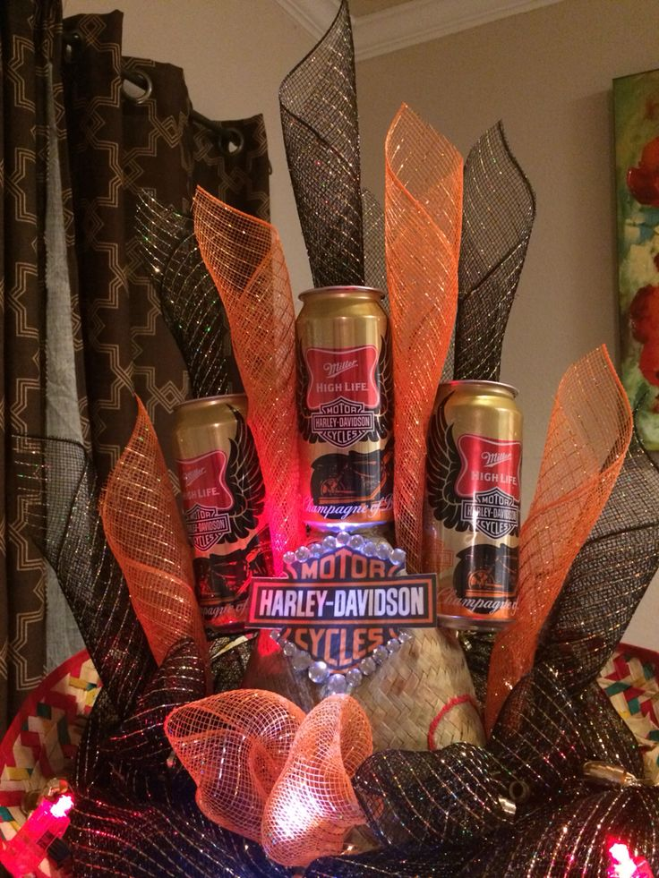 Fiesta Harley Davidson Beer Hat I created this 2015, Getting ready for San Antonio Fiesta!
