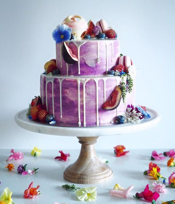 Colourful Fruit Cake: 89 Best Drip Cakes Images On Pinterest