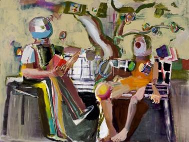 Figures under a tree, Joe Frost 2012