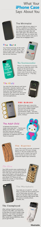 Infográfico revela o que o case do seu iPhone diz sobre você