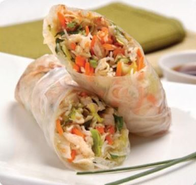 Turkey Salad Rolls with Cherry Hoisin Sauce. Make ahead and refrigerate for lunch, or a mid-afternoon snack.