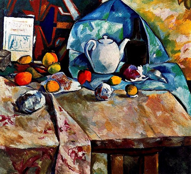 Larionov, Mikhail (1881-1964) - 1906 Still Life with Teapot (Private Collection) by RasMarley, via Flickr (See also: Natalya Goncharova)