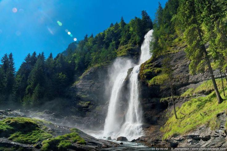 La cascade du Rouget en Haute Savoie - Sixt-fer-a-cheval, Haute-Savoie, France
