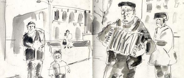 Как рисовать людей и места на отдыхе и в поездке