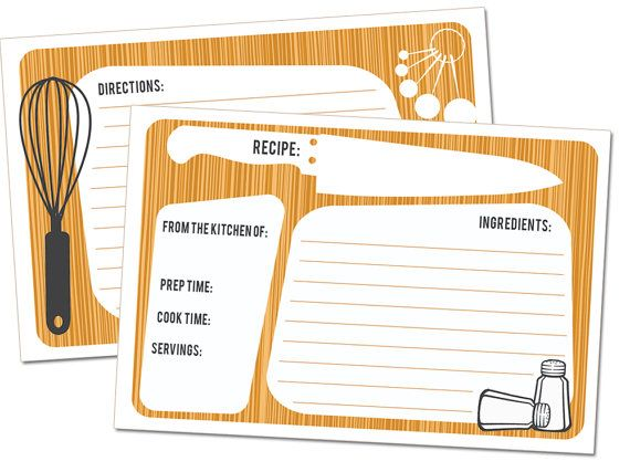 CUTTING BOARD Recipe Cards Set of 25 4x6 twosided by CreateTruth, $15.00