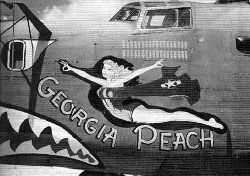 theheavingsurfaceAwesome Boards, Art Military Aircraft, Nose Art Military, Art Pin, Wwll Nose, Wwii Noseart, Art Girls, Georgia Peaches, B 24 Georgia
