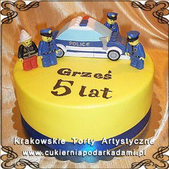 078. Tort z radiowozem i policjantami. Cake with police car.