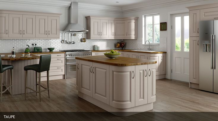 Painted kitchen with square frame doors with a raised centre panel, available in a variety of colours.  Visit http://www.erkitchens.co.uk/kitchens/heritage-painted for more information.