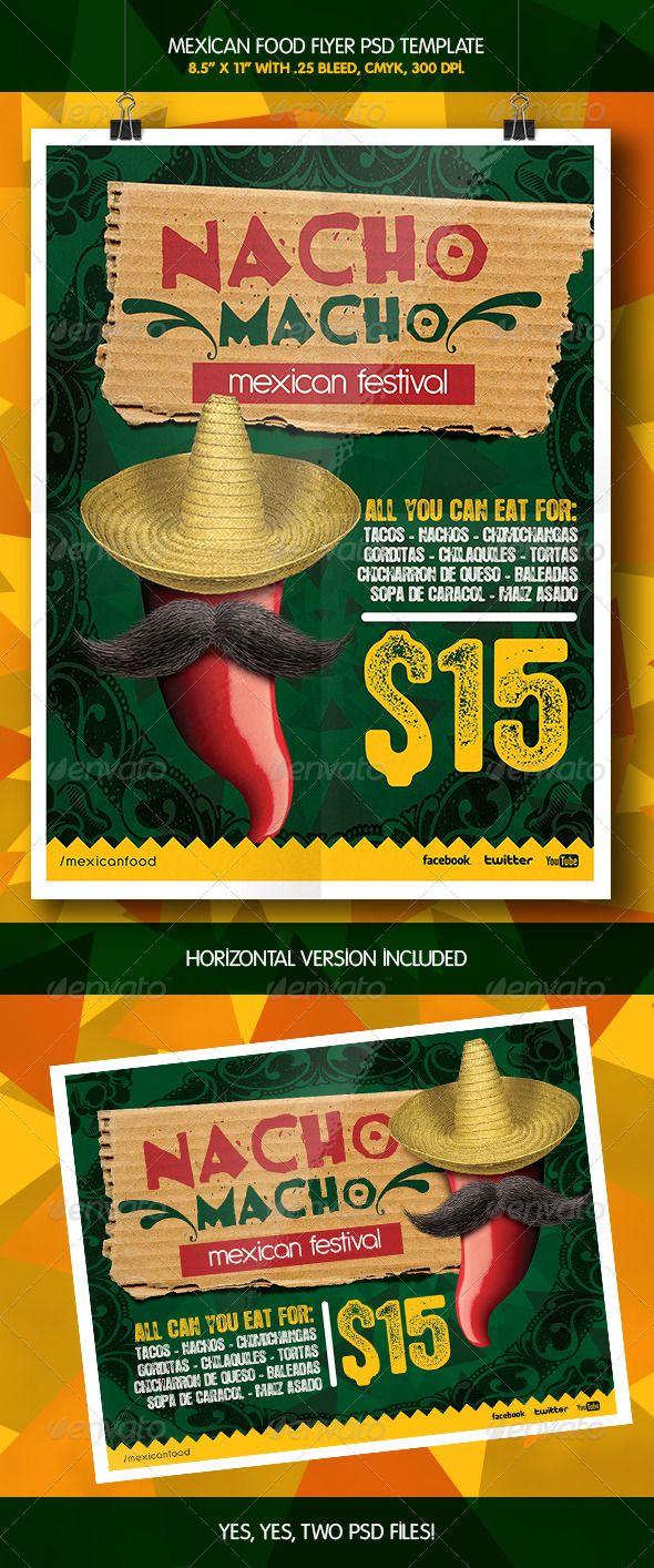 Mexican Macho Nacho Flyer Template Graphicriver Flyer