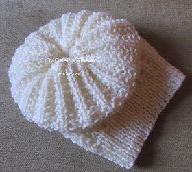 Celeida Ribeiro: Boina de tricot Lírio!