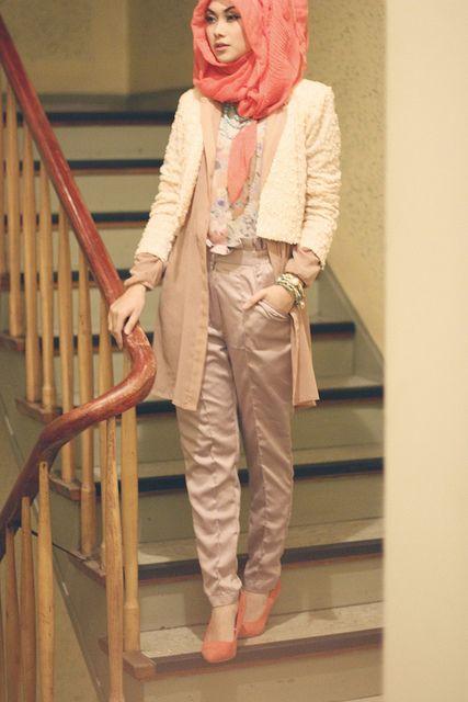 Baggy Pants  |  Loose fitting pants by indahnadapuspita, via Flickr  |  tags: hijab fashion, hijab outfit, hijab style, hijab inspiration