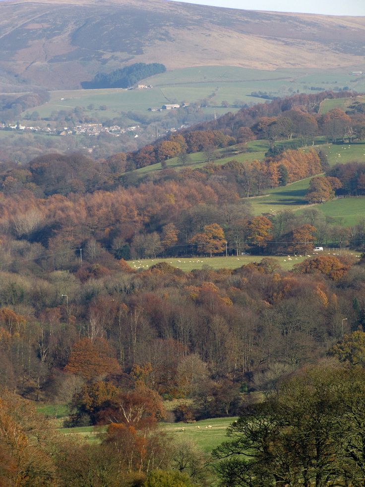 Pendle Hill in autumn, Lancashire, England by syruppud4