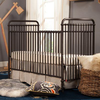 Inspired by vintage American metal cribs, the Winston 4-in-1 Crib is made of iron. Featuring classic metal casting at the joints and simple curves, it also converts to a full-size bed.