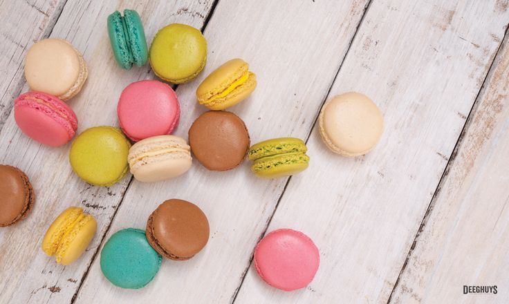 Berry, Rose, Lime, Tangerine, Coconut & Chocolate Flavoured Macarons by Deeghuys. Beautiful, fresh flavours for summer! Main Street Northern Paarl