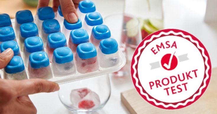 1 von 60 Testern stellen die Eiswürfelform auf die Probe - https://produkttest.emsa.com/?view=social&type=test&id=404