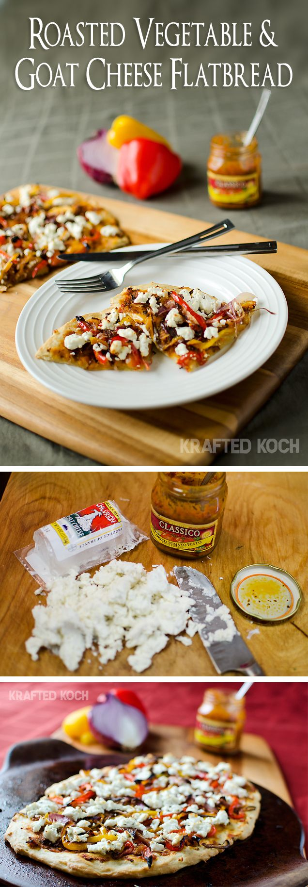 Roasted Vegetable and Goat Cheese Flatbread