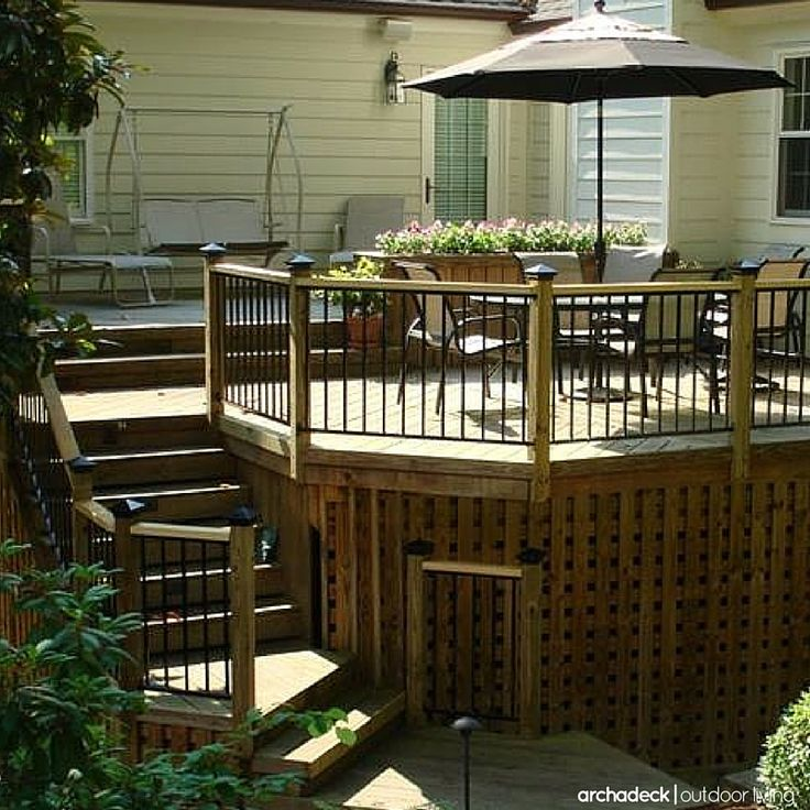 84 Best Images About Elevated And Raised Deck Ideas On