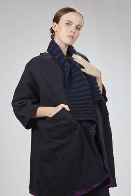 Daniela Gregis | two-tone alpaca wool scarf with vertical stripes | #danielagregis