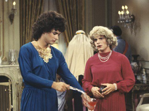 Tom Hanks and Peter Scolari in Bosom Buddies: Toms Hanks, Major Movies, Remember This, Things Remember, Awesome 80S, Bosom Buddies, Bossom Buddies, Roommate, Stars Toms