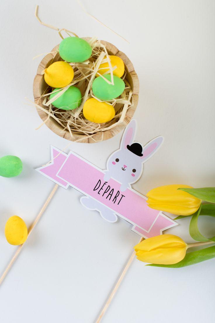 Idée déco jeu Chasse aux oeufs de Pâques!