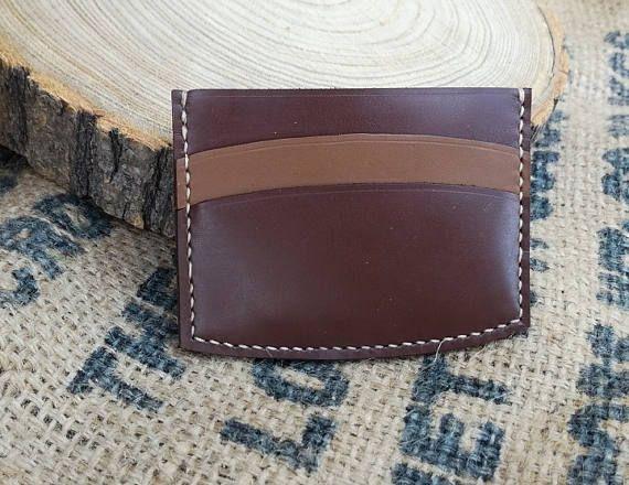 Leather Card Holder Wallet Handcrafted Mens Slim Minimalist