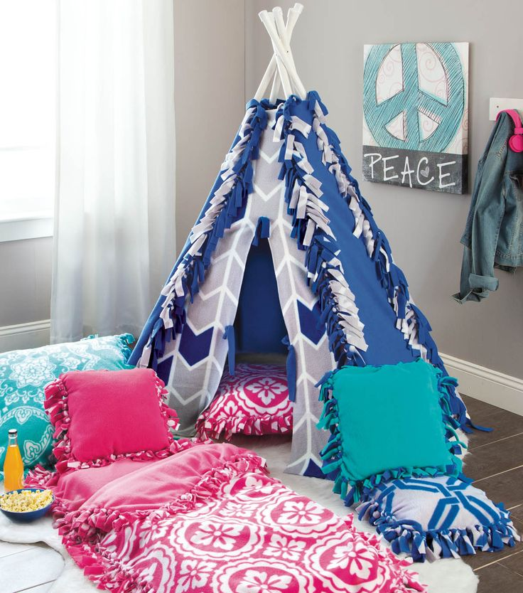 Make a No Sew Tent and Sleeping Bag using Fleece Fabric