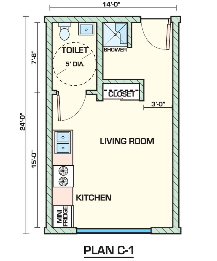 Best 25 studio apartment floor plans ideas on pinterest for Small garage apartment plans