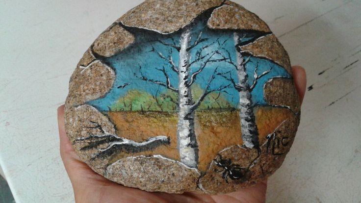 Art rock ...Acrylique sur roche