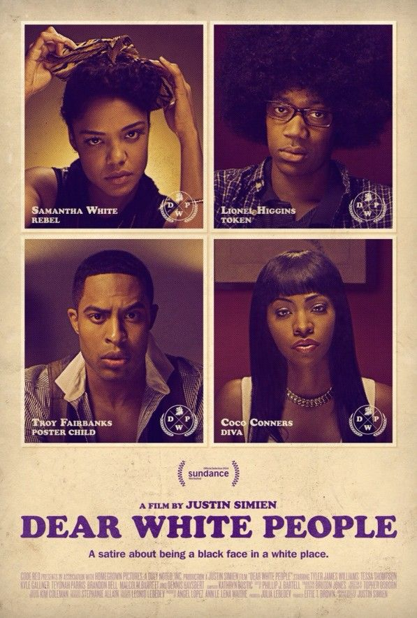 "'Dear White People' - ""A satire about being a black face in a white place,"" Justin's directorial debut follows four black students at an Ivy League college and the events that unfold after a white fraternity throws an offensive an African-American themed party."