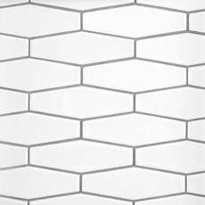 White Picket Ceramic Tile In 2020 Hexagon Tiles Tile