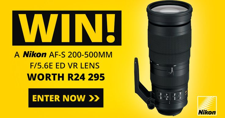 WIN a Nikon 200-500mm Lens! We are giving away a Nikon AF-S 200-500mm F/5.6E ED VR Lens worth R24 295!