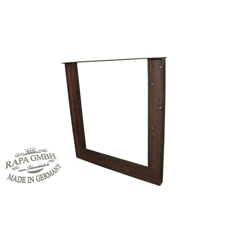 Tischuntergestell+Design+Bridge+1+StückRahmen+schwarzen+Rohstahl+im+Industriedesign+Trashdesign+/+Bridge+Design+Maß+Rahmen:+70&nb
