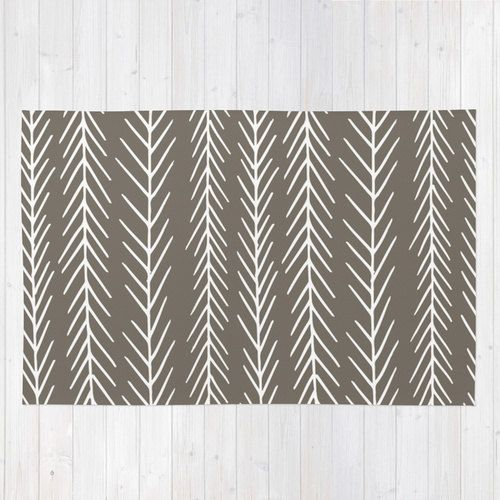 pine tree area rug, driftwood brown rug, graphic rug, forest decor, woodland decor, cabin decor, rustic rug, 2x3 3x5 4x6 choose 30 colors