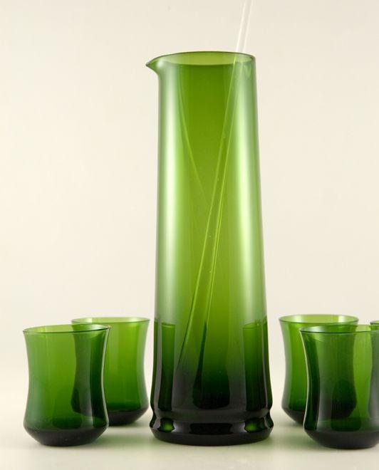 Blown Glass Art | Retro Art Glass: Swedish Modern Bo Borgstrom Blown Art Glass Martini ...