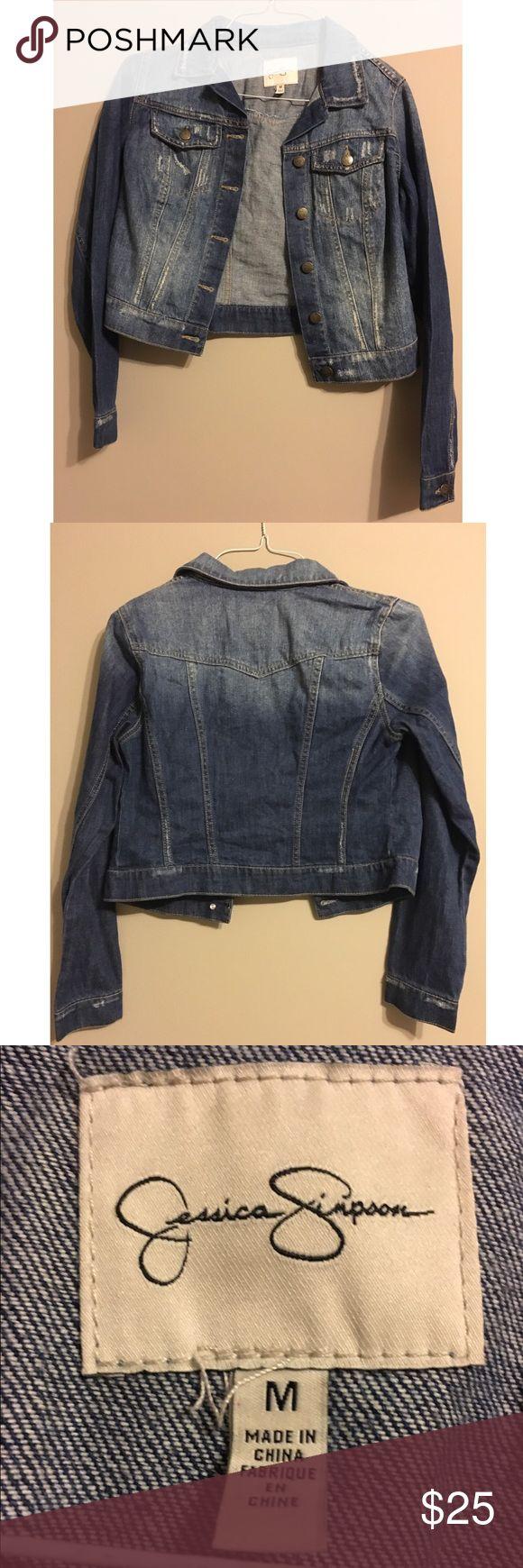 Jean Jacket by Jessica Simpson Size M Jean Jacket. Slightly Cropped. Jessica Simpson Jackets & Coats Jean Jackets