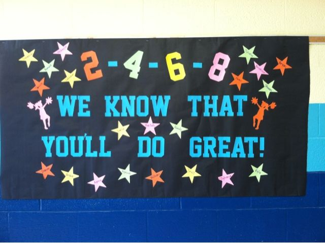 hallway banners for testing