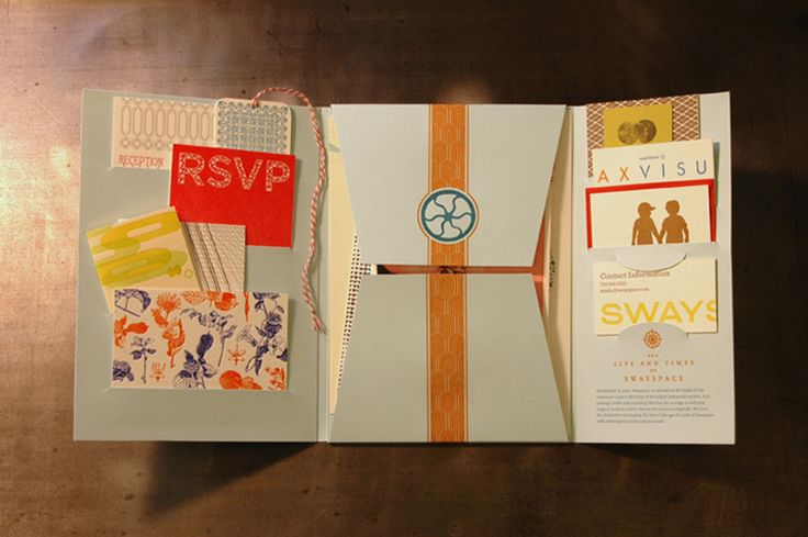 Swayspace LetterPress Kit  (Charming and eclectic, this cozy collection of letterpress samples turned press kit lets potential clients know there's no Swayspace like home. — KELLY CREE)
