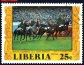 LIBERIA - CIRCA 1977: a stamp   shows Gold medal Winners France . Olympic games in Montreal, Canada 1976