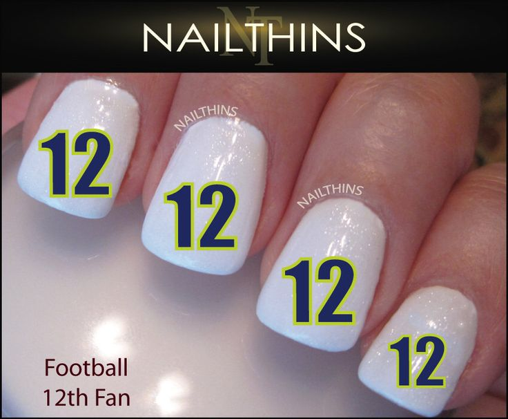 Football Number 12 Fan Nail Decal Nail Designs by NAILTHINS on Etsy https://www.etsy.com/listing/163036608/football-number-12-fan-nail-decal-nail