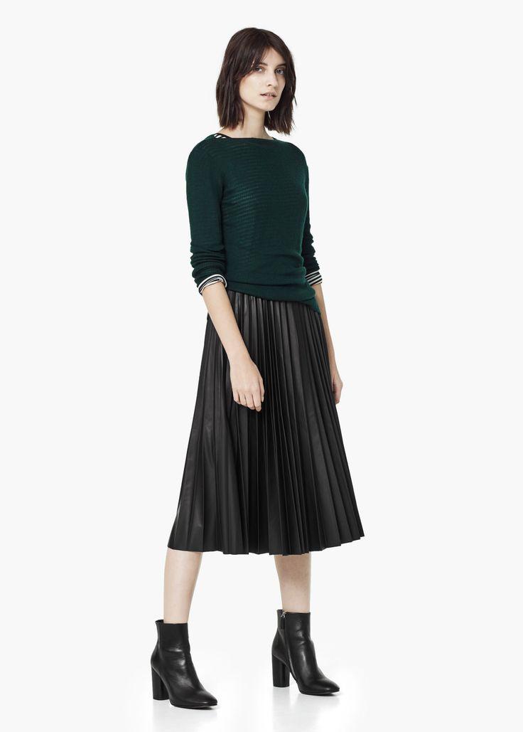 Falda midi plisada MANGO 40€